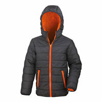 Childrens Padded Jacket Coat Quilted Puffer Hooded School Down Winter Boys Girl