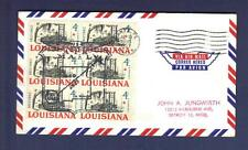 1963 USPS AIRMAIL Santa Fe, NM - Denver, CO Jungwirth FFC block 6 Louisiana 4c