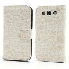 GRAFFITI Etui Flip Business Case weiß Samsung Galaxy S3 / GT-I9300