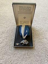 Vintage Sterling Silver Beaver Award Medal & Tie Tac w/ Original Case w/ Ribbon