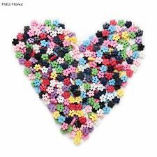 100pcs Mixed 2 hole Resin buttons Snowflake Decor Sewing 6mm