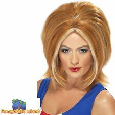 Girl Power Ginger Blonde Streaks Spice 90's Wig Adult Womens Fancy Dress Costume