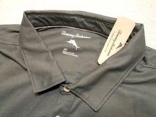 Tommy Bahama Double Eagle Performance Fabric Polo Shirt NWT 2XT $110 Gray