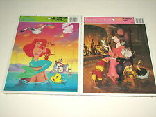 Golden Disney Little Mermaid (sealed) & Beauty and the Beast Frame Tray Puzzle