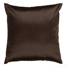 "Brown Cover Case Decorative Pillow Zippered Closure 18"" x 18"" 2 Piece"