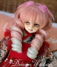 New 1/4 LUTS-KID,MSD,DOC,LATI-BLUE,DZ,BJD Wig 18-18.5cm Sweet Pink Princess Wig