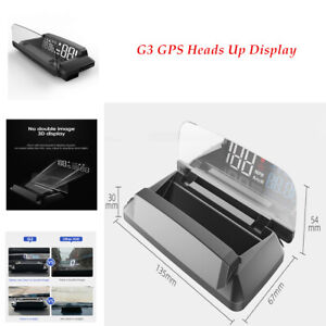 G3 GPS HUD Digital Car Speedometer Projector Warning Head Up Display Auto Speed