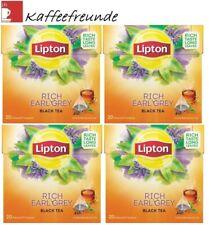 5 X Lipton Black Tea Rich Earl Grey Schwarztee 100 Pyramide Teebeutel