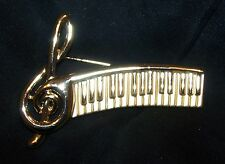 Vintage Piano Musical Note Pin Brooch-Signed AJC