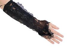 Armstulpen Victorian mit Schnürung und Fingerschlaufe, Gothic, Punk, WGT