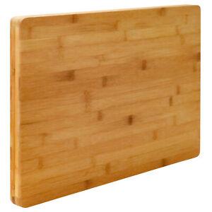 Schneidebrett 3cm  Holz 49cmx34cm Bambusbrett Tranchierbrett Schneidbrett