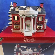 LEMAX VILLAGE PLYMOUTH CORNERS PORCELAIN LIGHTED HOUSE - EXCELLENT ORG BOX