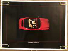Original Vintage Poster Everybody Wants One 1980s sports car Racing Memorabilia
