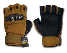 US Half Finger Army Military Hard Knuckle Finger Handschuhe Gloves coyote S