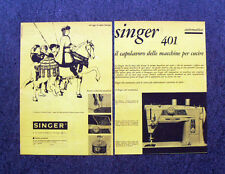 M168- Advertising Pubblicità -1960- SINGER 401 AUGURA BUON NATALE