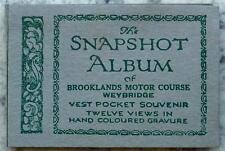 BARC BROOKLANDS Vest Pocket SNAPSHOT ALBUM Hand COLOURED Gravure 1930s