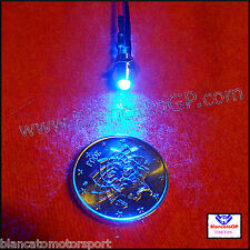 LED BLU & PORTALED IN METALLO CABLATI  wired 12V auto moto modellismo rc camper