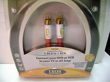 9ft.  IXOS XHV202-300 -  RCA to RCA - Gold Plated ends - Video cable - NIB