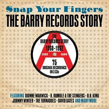 SNAP YOUR FINGERS - THE BARRY RECORDS STORY - 1960-1962 - 75 ORIGINALS (NEW 3CD)