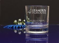 Personalised THE FAMOUS GROUSE your message Engraved Whisky/Tumbler Gift Glass79