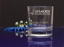 The Famous Grouse su mensaje Personalizado Grabado Whisky/Vaso De Vidrio De Regalo 79