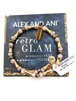 Authentic Alex & Ani Retro Glam Wrap Topaz Rafaelian Gold VW505RG NWT&MC