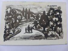 Henri AUTRAN  peintre provençal DESSIN Encre de Chine  signé  CACHET  ATELIER