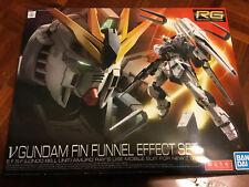 Bandai RG 1/144 Real Grade V Nu Gundam + Fin-Funnel Effect Set Plastic Model Kit