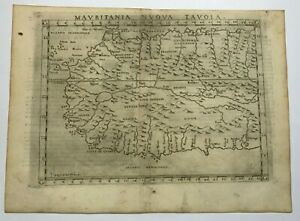 AFRICA 1598 RUSCELLI - PTOLEMY 16e CENTURY UNUSUAL ANTIQUE ENGRAVED MAP