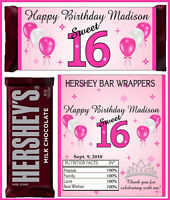 RAPUNZEL BIRTHDAY PARTY FAVORS CANDY BAR HERSHEY BAR WRAPPERS