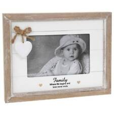 Vintage Shabby Chic Family Photo Frame Gift With Heart 46200