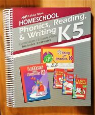 Homeschool Phonics, Reading,& Writing K5 (Beka Book 2012) Excellent Home School