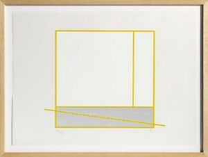 Jesus Rafael Soto, Le Tour Jaune, Screenprint, signed and numbered in pencil