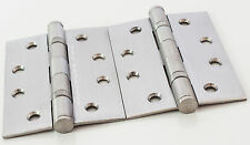 6pr Heavy Duty Door Hinge Stainless Steel Butt Ball Bearing 100mm