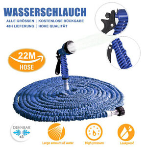 25FT-150FT Garden Hose Pipe Expandable Flexible Leakproof w/ Water Spray Nozzle