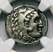 NGC VF. Alexander the Great. Stunning Drachm. Ancient Greek Silver Coin.