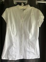 New Target City Short Sleeve Button Up Blouse Casual Corporate Top White Size 12