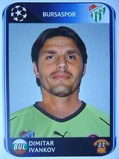 PANINI 193 Dimitar Ivankov Bursaspor UEFA CL 2010/11