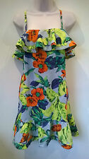 French Connection tropical print vibrant floral Summer Dress Size UK 8