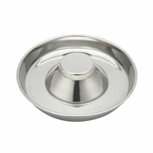 LARGE 34cm PUPPY SLOW FEED BOWL STAINLESS STEEL ANTI BLOAT FEEDER  DOG WEANING