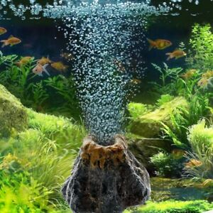 Aquarium Volcano Shape Air Bubble Stone Oxygen Pump Tank Ornament Fish Accessory