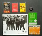 SLAYER,B/W Promo photo,5 vintage Backstage passes,metal pin/button