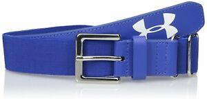 Under Armour Youth Baseball Softball Belt, Royal Blue & White Logo