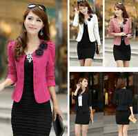 New Fashion Women Lady Tops Slim Suit OL Blazer Short Coat Jacket M L XL XXL
