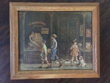 "Lee Dubin ""J.C. Hurst & Sons Emporium"" Print Solid Oak Frame"