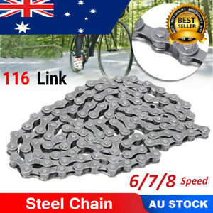 Professional Mountain Bike Bicycle Steel Chain with 116 Links For 6/7/8 Speed dr