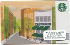 Starbucks Coffee No Value Gift Card Cafe storefront building watercolor