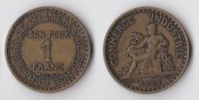 1922 France 1 franc coin