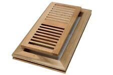 Red Oak 4 X 10 Wood Vent/Register - Flush Mount With No Damper
