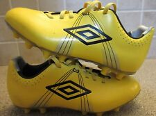 Umbro GT Pro Leather Yellow Black Size 5Y Soccer Football Cleats Shoes